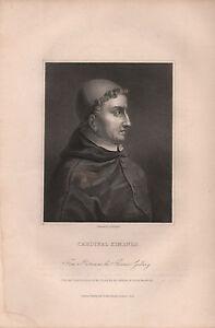 Art 1836 Georgian Portrait Print ~ Cardinal Ximenes
