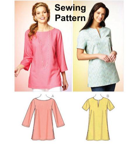 Kwik Sew K3870 Pattern Misses Tunics XS-XL BN