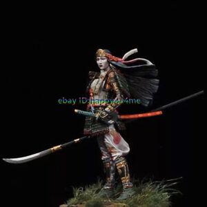 1-18-90mm-Japanese-samurai-Garage-Kits-Female-Warrior-Figure-Model-Unpainted-GK