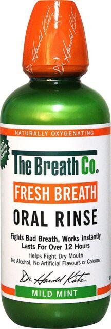 The Breath Co Fresh Breath Oral Rinse Mild Mint 500 ml