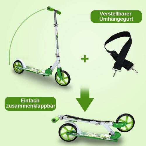 Kinderroller 205mm Klappbar Cityroller Umhängegurt InklRäder Trittbrett Scooter