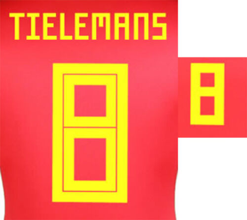 TIELEMANS 8 2018 WORLD CUP NAME BLOCK FOR BELGIUM HOME = ADULT SIZE