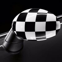 Mini Cooper Checkered Replacement Mirror Covers Pair