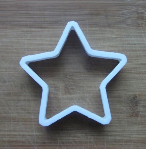 Star Shaped Cookie Cutter Biscuit Pastry Fondant Stencil made to size SH16