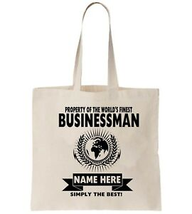 Image Is Loading Businessman Personalised Tote Bag Shopper Thanks Amend Birthday