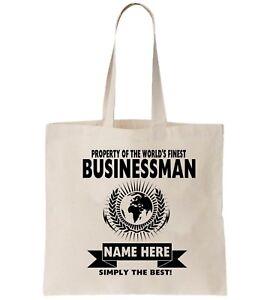 Businessman Personalised Tote Bag Shopper Thanks Amend Birthday Gift