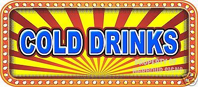 """Cold Drinks 18/"""" Decal Concession Lettering Food Truck Restaurant Vinyl Sticker"""