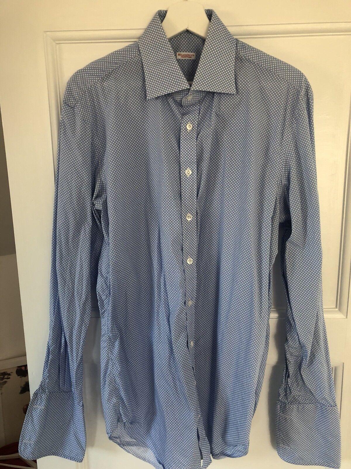 "Emmett Bespoke Mens Slim Fit Double Cuff Shirt (16.5"")"