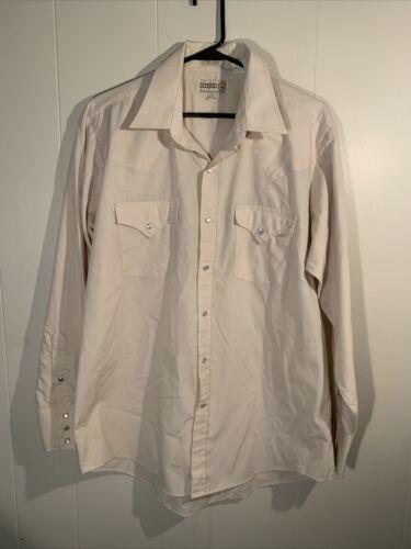 Sheplers Shirt Mens Large Long Sleeve Pearl Snaps
