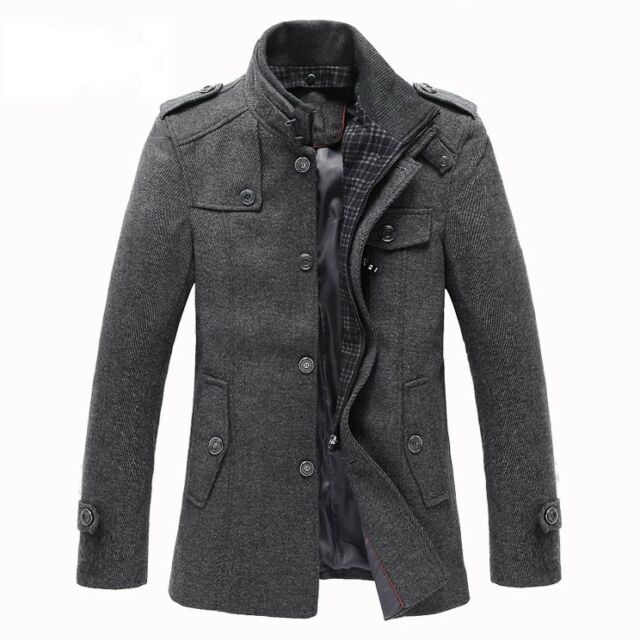 Hot new Mens buniess Jacket wool peacoat Slim Winter Trench Overcoat Clothes