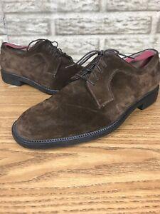 Salvatore-Ferragamo-Studio-Brown-Suede-Derby-Oxford-Shoes-Sz-9-2E-143