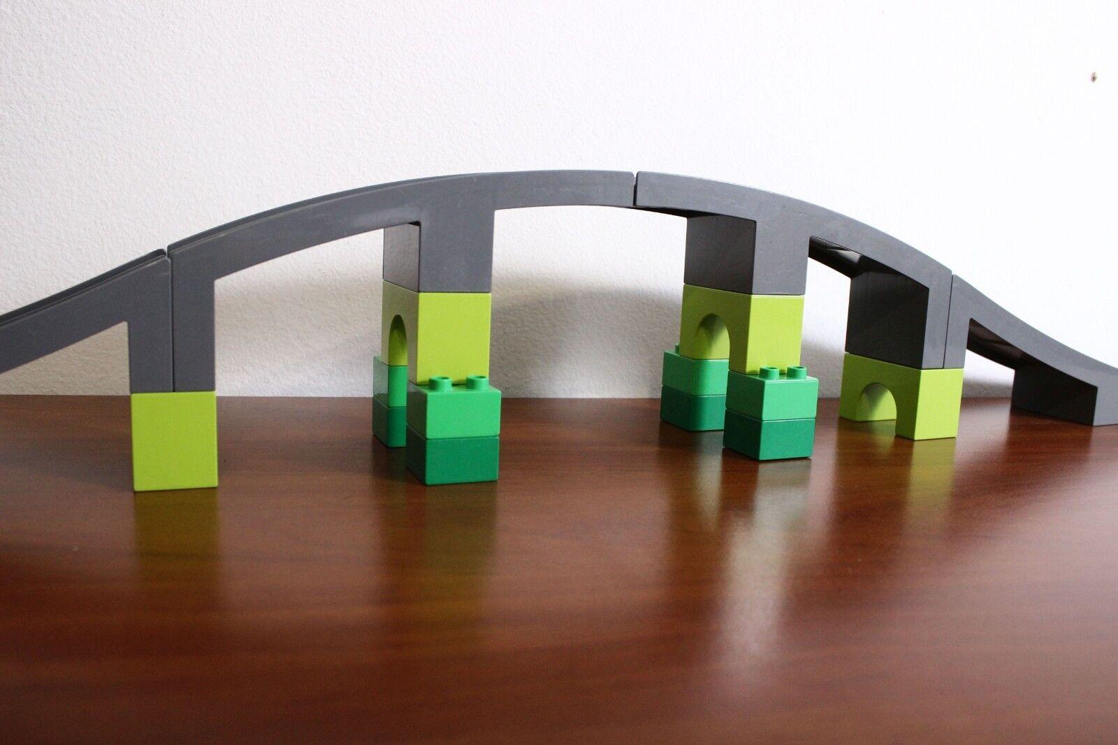 Lego Lego Lego Duplo Train Bridge (part of set 10508-1) 100% complete fa56fb