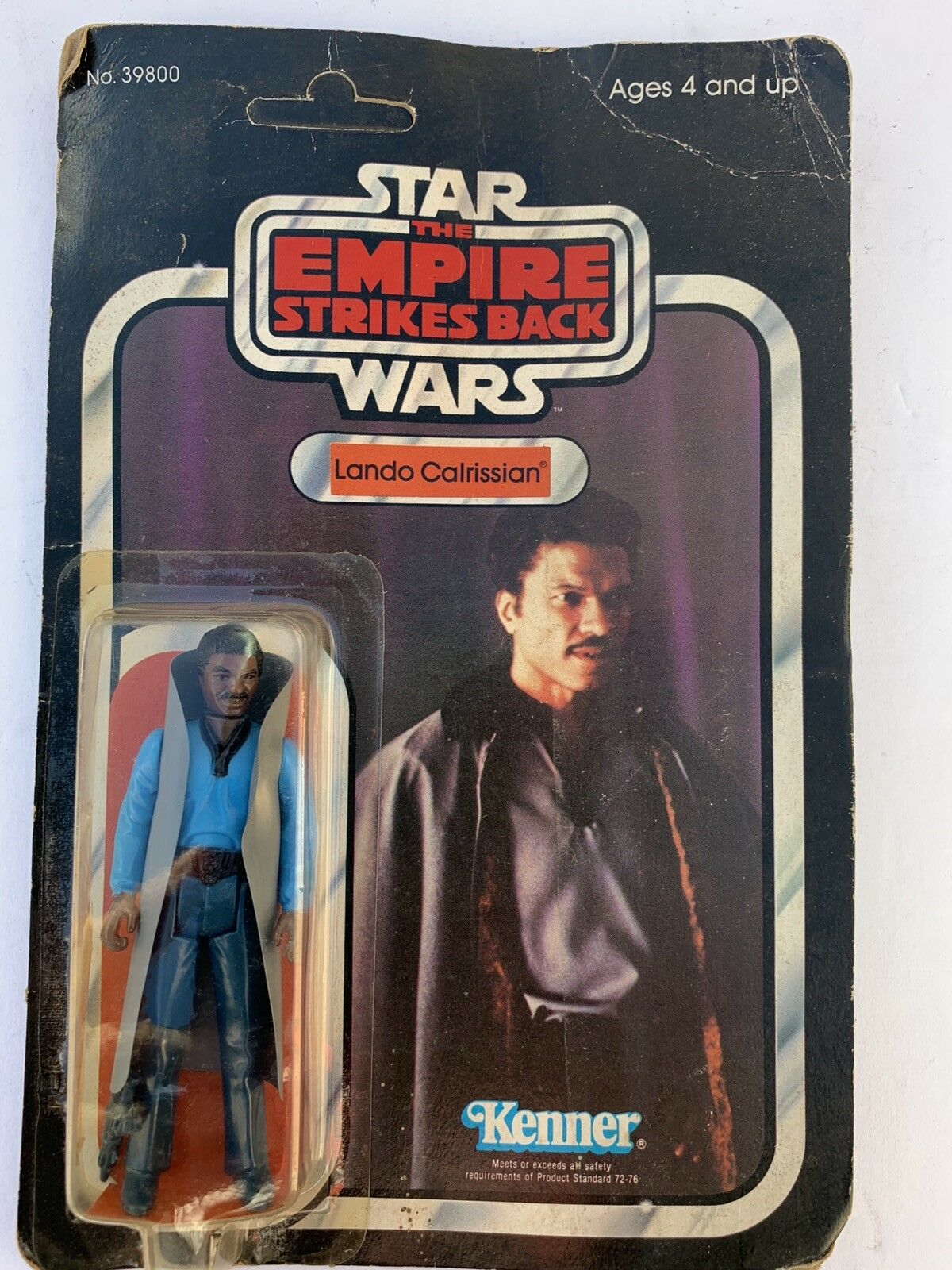 Vintage 1980 Kenner Star Wars Lando Calrissian Unpunched Card