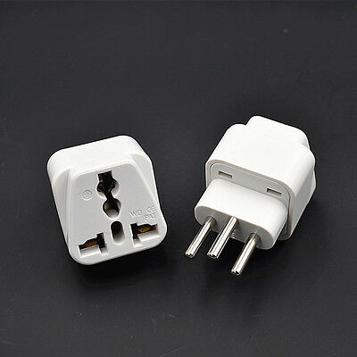 2pc American European To UK British Travel Charger Adapter Plug Outlet Converter