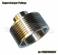 Jaguar XKR X150 4.2 Supercharger Upper Pulley 6% 1.5lb Upgrade Stainless Steel