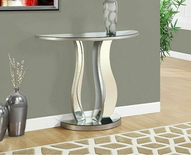 Silver Mirrored Console Sofa Table, Used Mirrored Tables