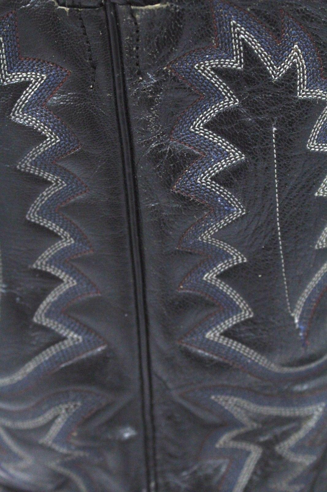 Herren Panhandle Slim Cowboy Strauß Größe Skin Leder Schwarz Stiefel Größe Strauß 8.5 D d7f4bd