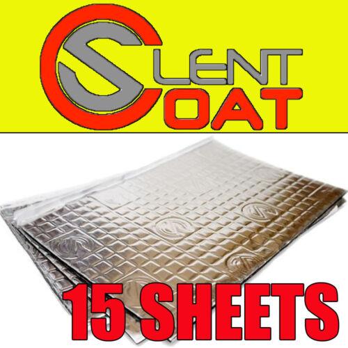 Silent Coat Car Boot Deadening Vibration Sound Proofing Damping Mat 15 x Sheets
