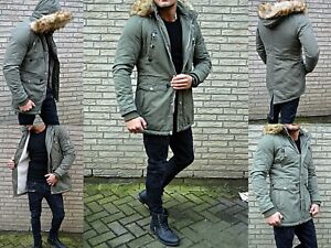 save off eb8c0 c1894 Details about Luxury Men's Parka Winter Russia Young Mode UK Style Fashion  fur Coat Jacket