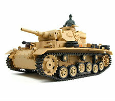 1:16 German Tauch Panzer III RC Battle Tank Smoke & Sound 2.4GHz Remote Control
