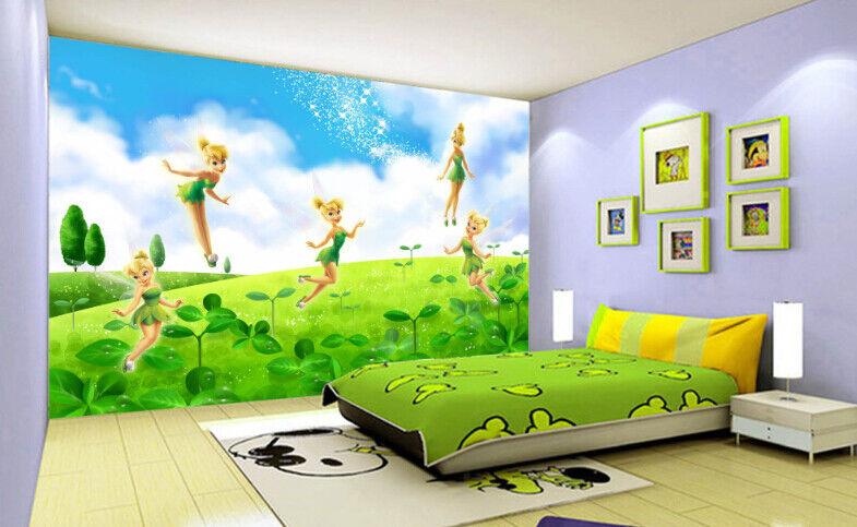 Papel Pintado Mural De Vellón Elfo Bosque green 2 Paisaje Fondo De Pansize ES