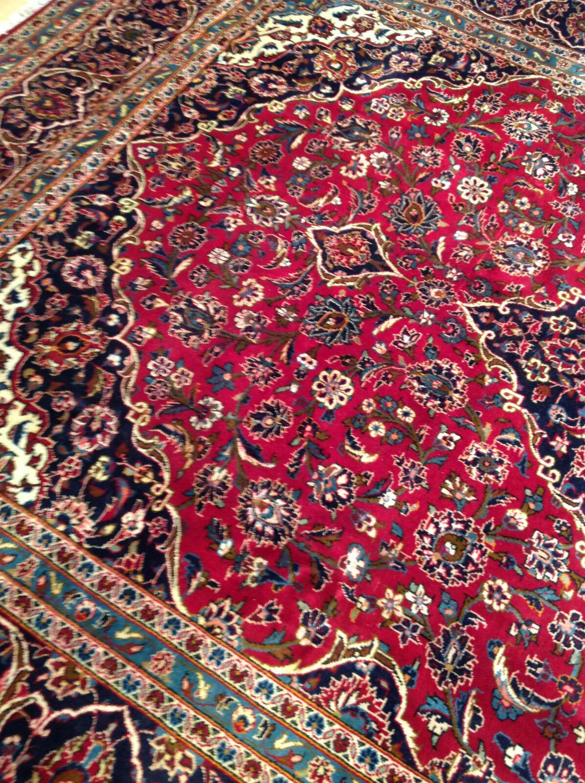Magnifique Tapis Oriental x Keshan 423 x Oriental 298 cm persan TOP comme NEUF 43d058