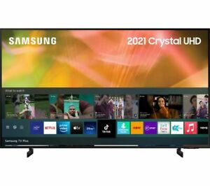 "SAMSUNG UE75AU8000KXXU 75"" Smart 4K Ultra HD HDR LED TV Alexa & Google Assistant"