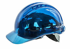 SAFETY HELMET PEAK VIEW,FULL UK SPEC.PORTWEST PV50,HARD HAT,BUILDING SITE,BLUE
