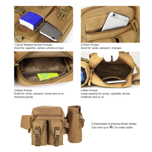 Tactical Sports Bag Belt Pouch Molle Bag Hip Packs Waist Bag Fanny Pack