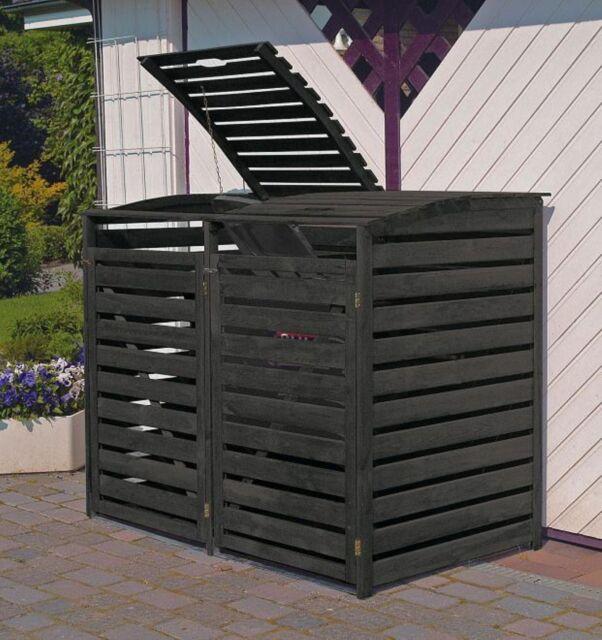 """Promadino Mülltonnenbox """"Vario III"""" für 2 Tonnen"""