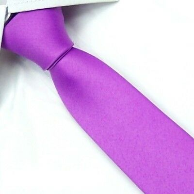 New Casual Slim Plain Mens Solid Skinny Neck Party wedding Tie Silk Necktie SK