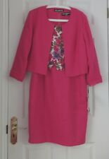 Karl Lagerfeld ladies formal occasion pink suit dress & jacket US 12, UK 14 BNWT