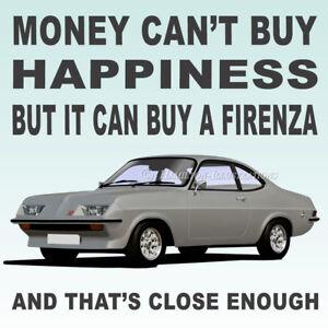Vauxhall Viva Firenza Droop Snoot  Art illustration Drinks Coaster