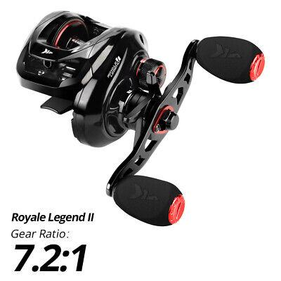 Left KastKing Royale Legend II 7.2:1 Smooth Baitcasting Fishing Reel 17.6 LB