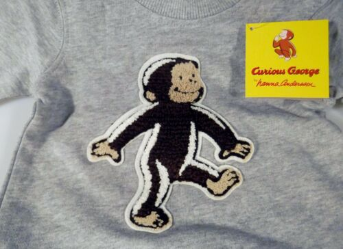 Hanna Andersson Curious George Baby Sweatshirt 3-6 Months 60 Cm NWT 100/% Cotton