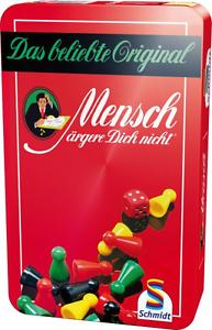 ORIGINAL-034-Mensch-aergere-Dich-nicht-034-Schmidt-Spiele-MaeDn-Metalldose-Reisespiel