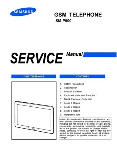 Samsung Galaxy Note Pro 12.2 Service Manual