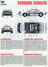 Prospekt Montageanleitung Modellauto Kit Bburago Ferrari 308 GTB Modellbau-Set