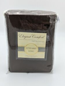 Elegant Comfort Single Sheet 1500 Thread Count Egyptian Cotton Bed Sheet - KING