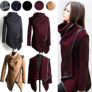 Women Lady Slim Winter Warm Trench Coat Long Jacket Outwear Parka ...