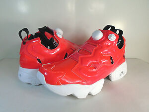 9f21570ca28 Image is loading WOMENS-REEBOK-INSTAPUMP-FURY-OVERBRANDED-Neon-Cherry-White-