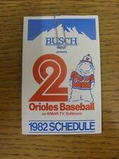 Accesorio de 1982: tarjeta de béisbol de los Orioles de Baltimore (Busch Cerveza veces fuera un estilo).