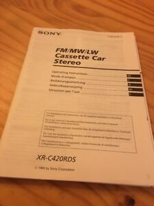 Sony-XR-C420RDS-autoradio-notice-utilisation-mode-d-039-emploi-ed-94