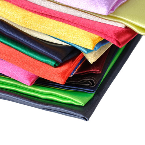26pcs Men Silk Handkerchief Pocket Square Plain Solid Color for Wedding Party