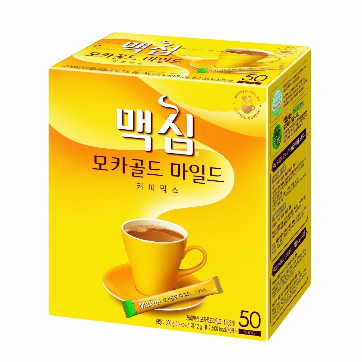 Korea MAXIM Mocha Gold Instant Coffee Mix – 50 Sticks