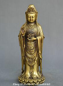 Chinese-Tibet-Buddhism-old-bronze-Guanyin-Kwan-yin-Bodhisattva-Buddha-statue