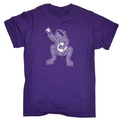 Funny Novelty T-Shirt Mens tee TShirt Toad Plaing Banjo