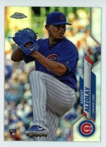 2020-Topps-Chrome-110-ADBERT-ALZOLAY-Chicago-Cubs-REFRACTOR-ROOKIE-CARD-RC