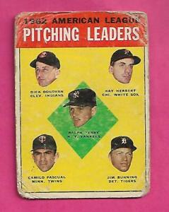 1963-TOPPS-8-AMERICAN-LEAGUE-PITCHING-LEADERS-FAIR-CARD-INV-C3152
