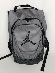 75e1ffec8d3251 Nike Air Jordan Jumpman Backpack Grey Black Elephant Laptop Storage ...